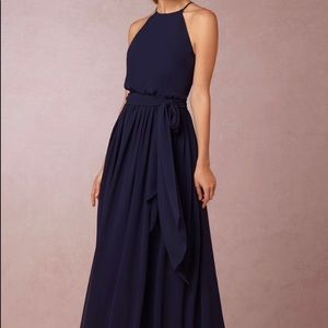 Long navy blue dress